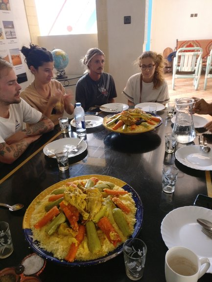 Lunch with the hostel guests